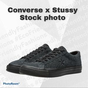 CONVERSE X STUSSY ONE STAR '74 BLACK SNEAKERS